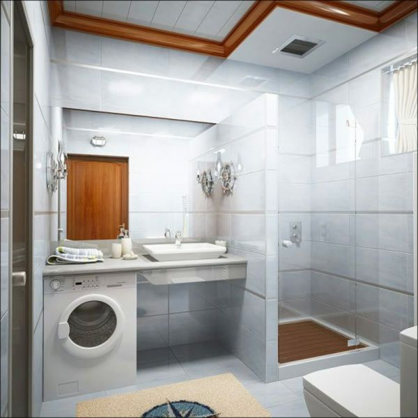 kleines-bad-planen-idee - weiße wände Haus - Bad-Ideen - planung badezimmer ideen