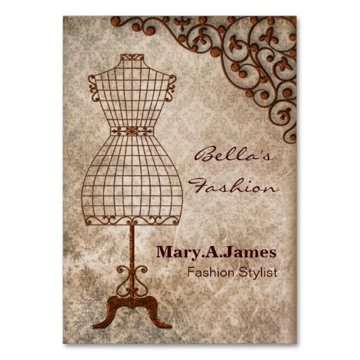 Vintage Mannequin Fashion Business Cards Zazzle Com In 2021 Fashion Business Cards Vintage Mannequin Vintage Business Cards