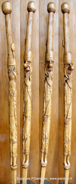 Sculptures Bois B Ton Monoxyle En N Flier Cuisinier
