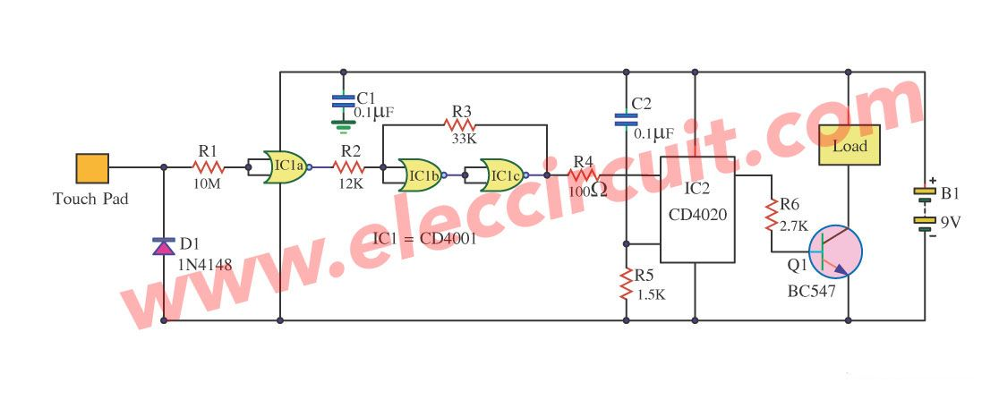 Time Delay for Relay using CD4011