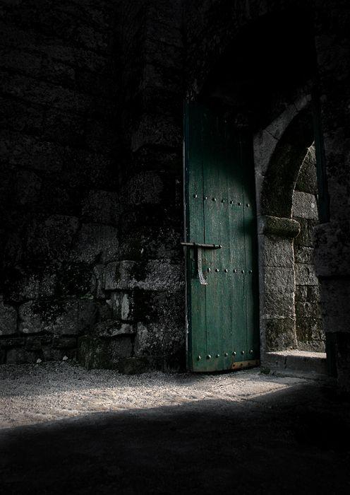 Dark green castle door... Green Envy Pinterest A