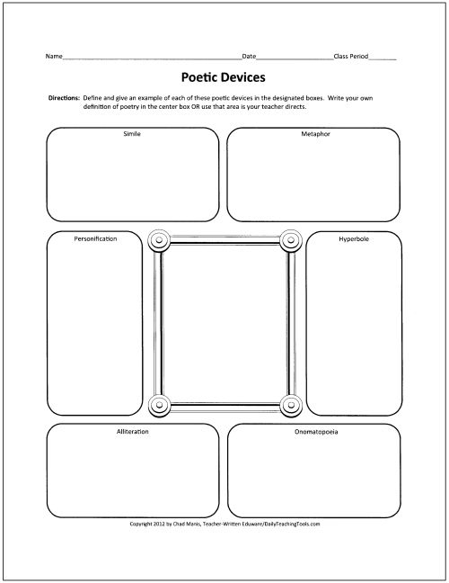 Bio Poem Graphic Organizer  Come Around And Check This Site Out