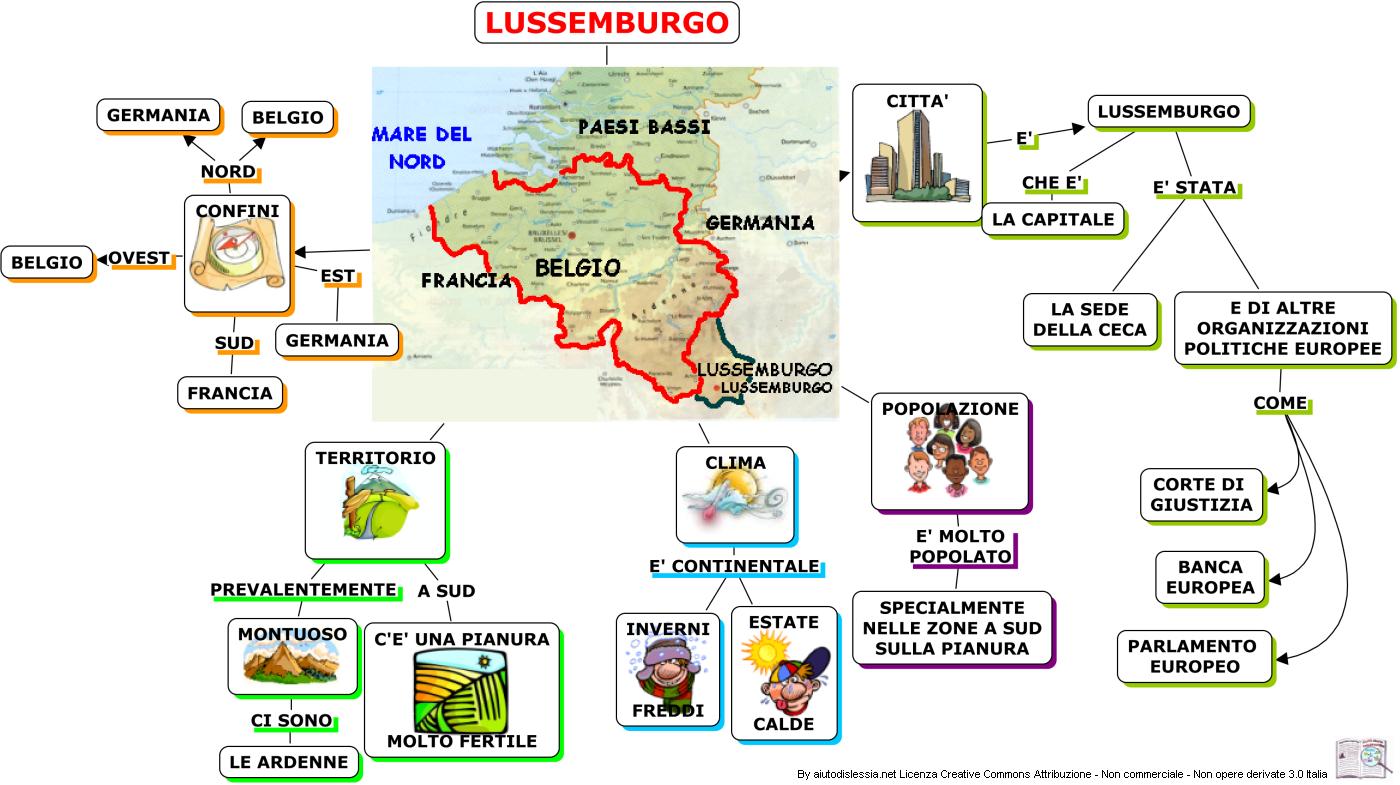 Territorio Lussemburgo Cartina Fisica.Lussemburgo 2ª Media Aiutodislessia Net Lussemburgo Geografia