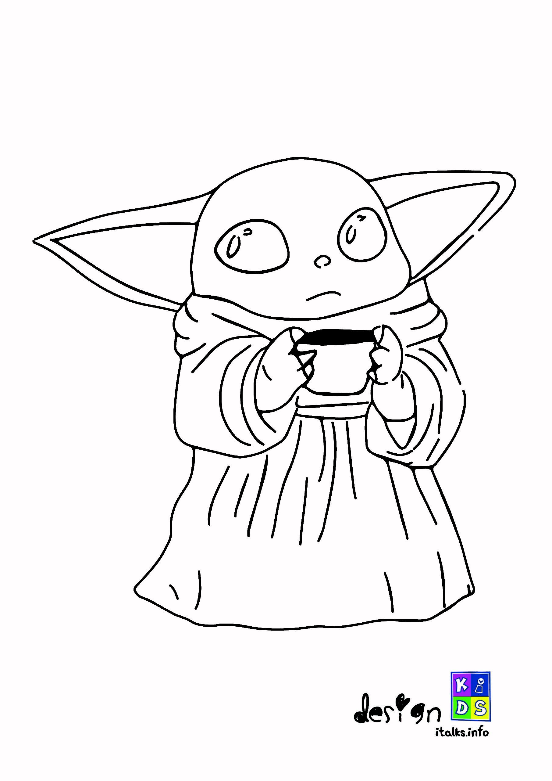 Baby Yoda Coloring Page Designkids Only For Kids Di
