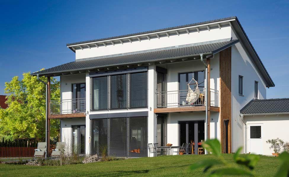 Einfamilienhaus modern pultdach  Haas Fertighaus Symphony 140 mit Pultdach | Haustraum | Pinterest ...