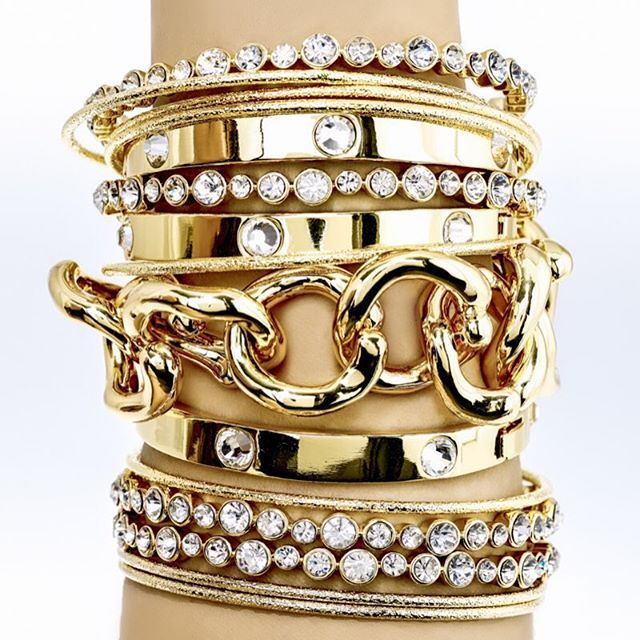 Only a few days left to save 50% on our favorite arm candy!  #armcandy #24Kgold #swarovski #bracelet #bangle