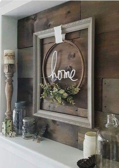 This Would Make A Super Cute Front Door Wreath Rustic
