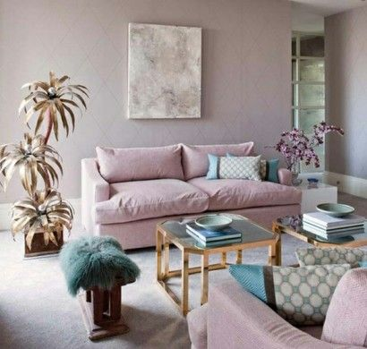 zimmer-einrichtungsideen-wohnen-lila-rosa | violett, flieder, lila, Innenarchitektur ideen