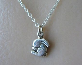 Sterling silver bunny necklace rabbit necklace child necklace sterling silver bunny necklace rabbit necklace child necklace bunny necklace rabbit jewelry aloadofball Choice Image