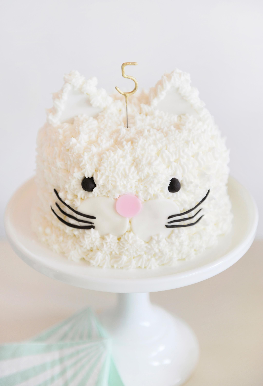 Cat Kitten Birthday Party Cake