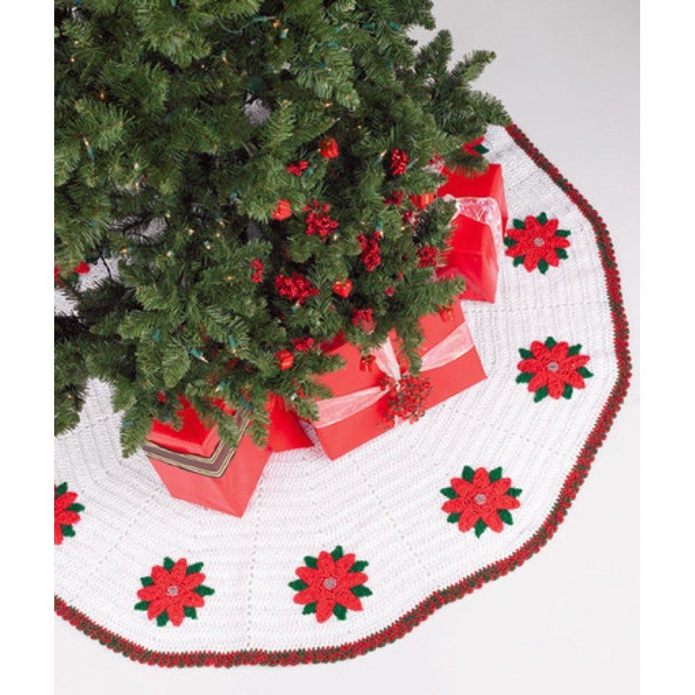 Crochet Tree Skirt in Red Heart Super Saver Economy Solids - WR1560 ...