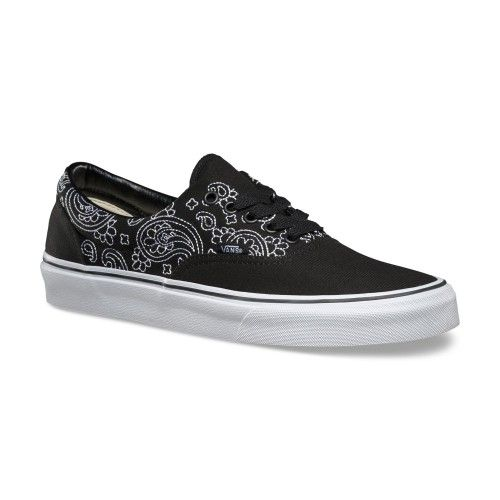 53c785693ca0 Vans Bandana Stitch Era Shoes (Bandana Stitch) Black True White - Vans UK  Official Online Store