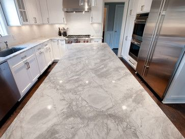 Kitchen white vermont granite island transitional - Interior specialists inc reno nv ...