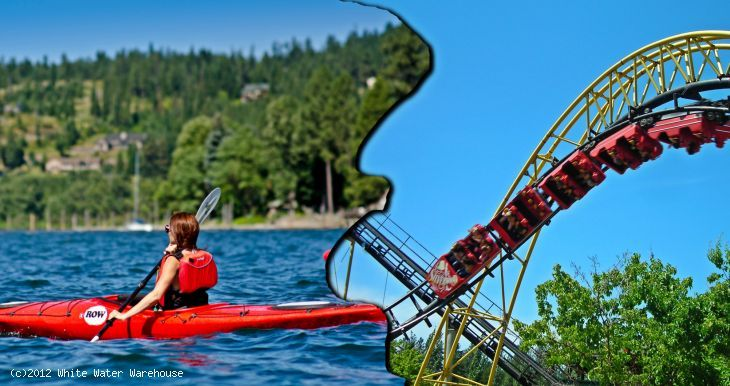 Spend A Full Day Enjoying Silverwood Theme Park And An Active Half Day Lake Kayaking Tour In Coeur D Alene Rowadventurece Lake Kayaking Coeur D Alene Kayaking