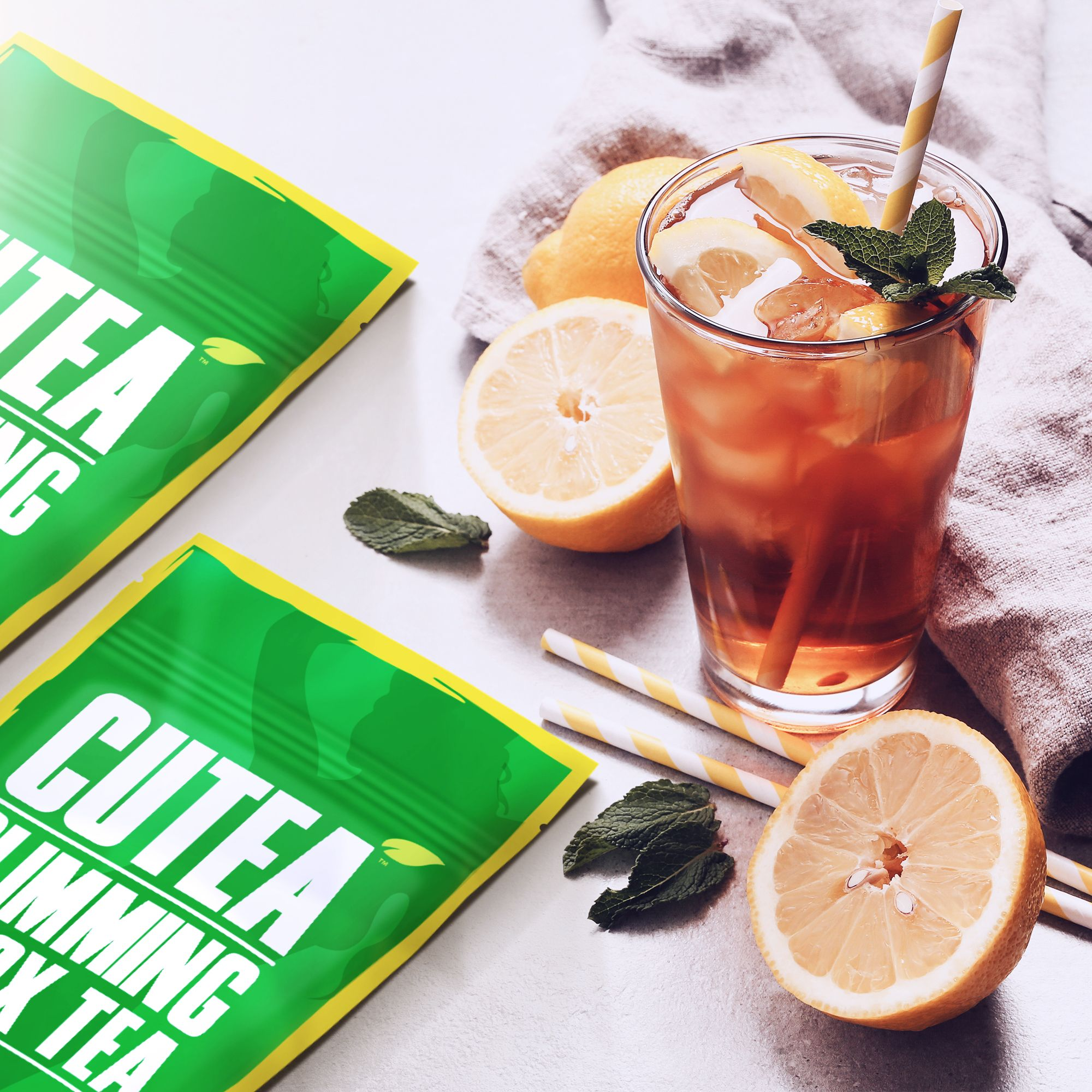 CUTEA Detox Tea not only helps you reduce bloat and fight stubborn fat, but it tastes refreshingly delicious!