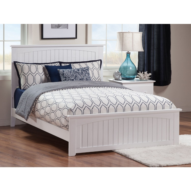 Atlantic Nantucket Queen Bed Matching Footboard White