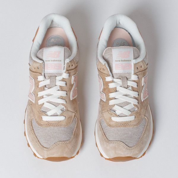 new balance 574 beige pink beach cruiser