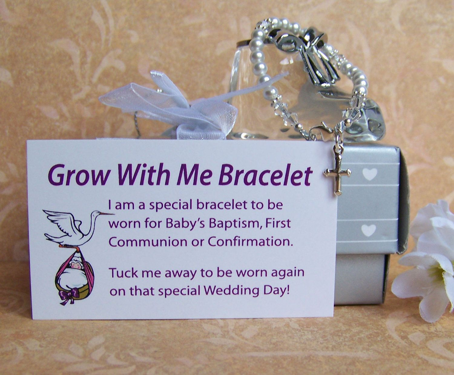 Baby Girl Baptism Bracelet Grow With Me By Luckycharm5286