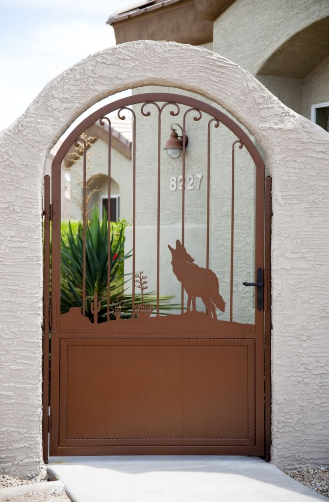 Night Song Iron Entry Doors Wood Gate Southwestern Home Decor