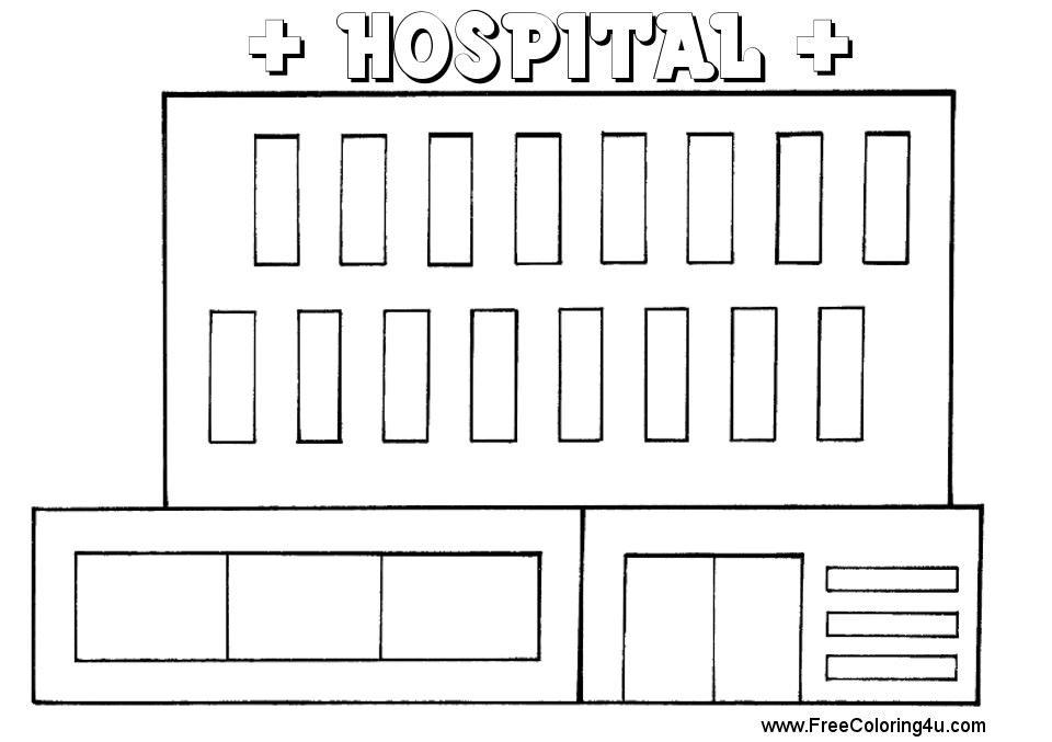Free Printable Hospital Coloring Pages Busqueda De Google En 2020 Free Busqueda De Google Hospital