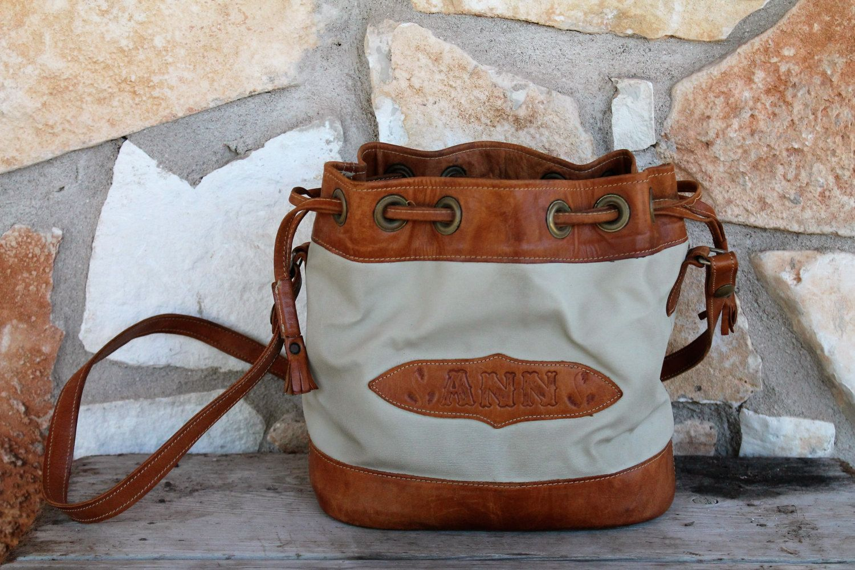 VINTAGE Drawstring Handbag by AnnBumblebeehandbags on Etsy
