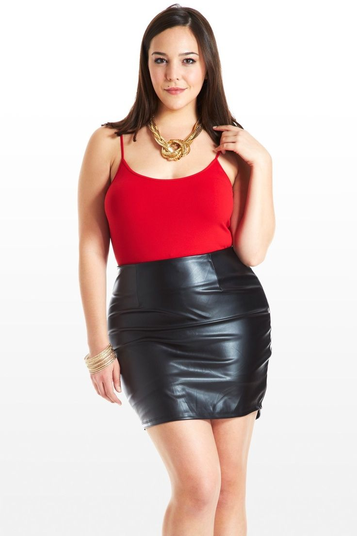 Full figure leather skirt | That dress... | Leather skirt ...