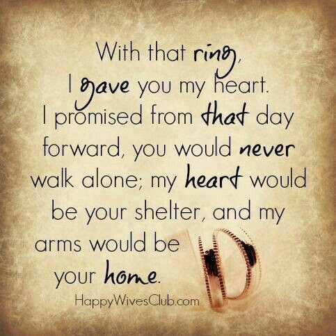 With That Ring Inspirational Quotes Love Marriage Quotes Love