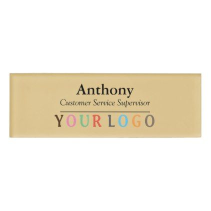 Name Badge Magnet Custom Logo Employee Staff Large ...