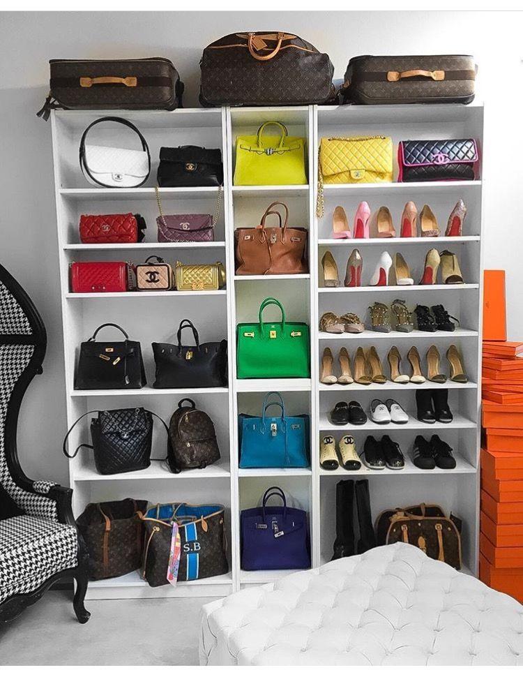 Shoes Bag Display Set Up Bag Display Handbag Storage Purse
