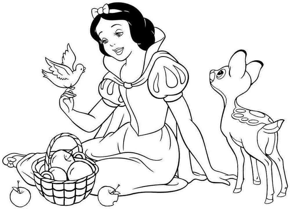 Snow White Color Pages Best Quality Disney Princess Coloring