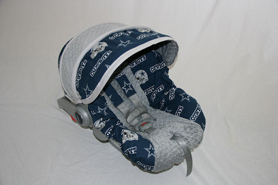 Dallas COWBOYS Infant Car Seat Cover Custom By BABYCOVERS2010 6500