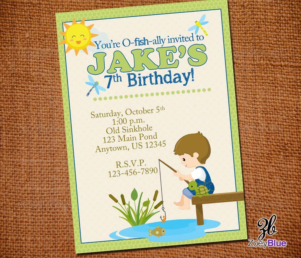 Boy fishing birthday invitation boy birthday party camping boy fishing birthday party invitation green by zoeybluedesigns 699 filmwisefo