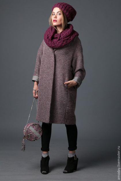 706689635486 Пальто из ткани букле в модном оттенке AMODAY