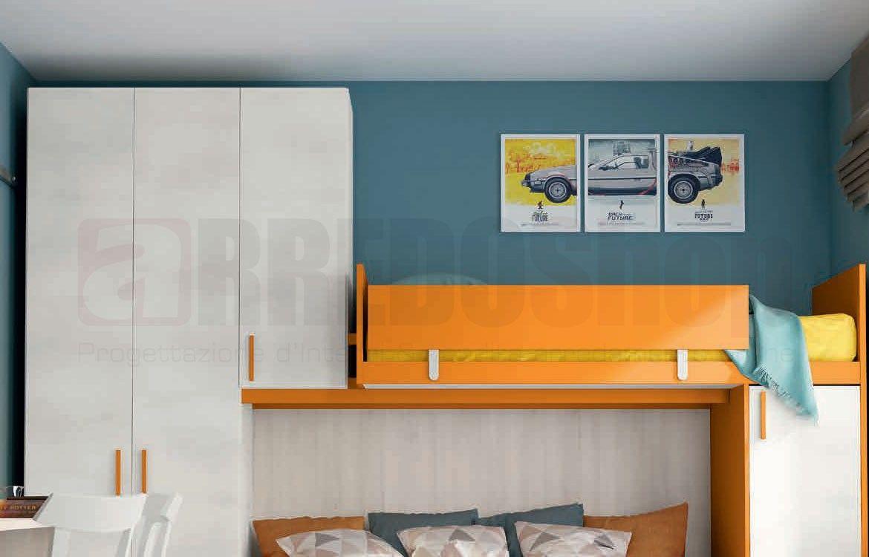 Camerette Colombini Con Cabina Armadio.Cameretta A Soppalco Target C209 By Colombini Casa Target Cassa