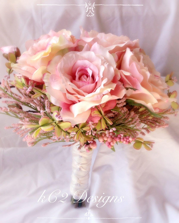 Silk flower wedding bouquet silk bouquet bridal bouquet your