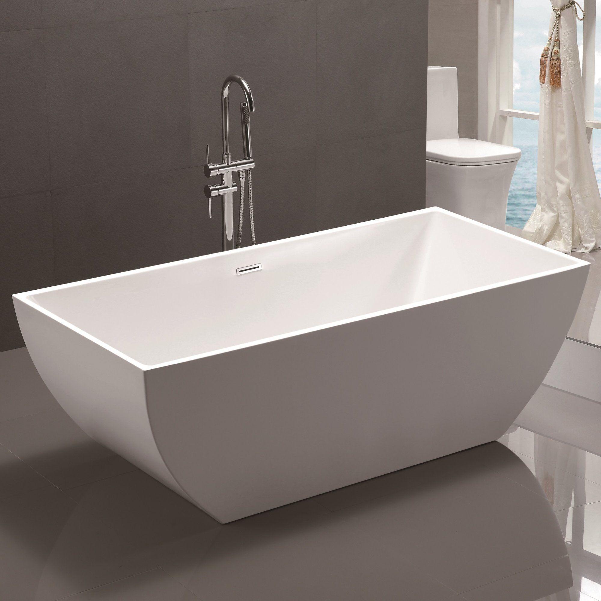 59 X 30 Freestanding Soaking Bathtub Soaking Bathtubs Acrylic