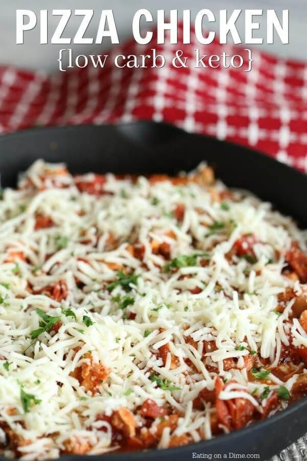 Enjoy low carb pizza chicken recipe while folowing a ketogenic diet Keto pizza chicken recipe is packed with flavor Pizza chicken keto recipe is easy