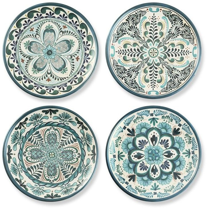 Veracruz Blue Melamine Salad Plates Set Of 4 51 95 Jarrones