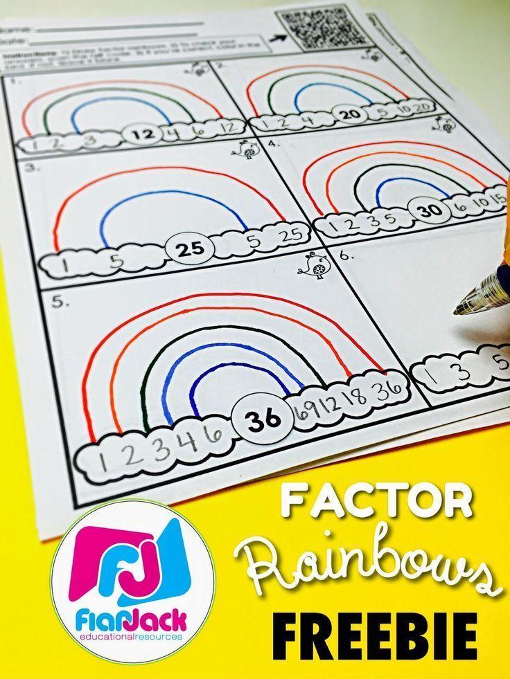 Factor Rainbows Freebie Bundle Qr Codes Worksheets And Factors