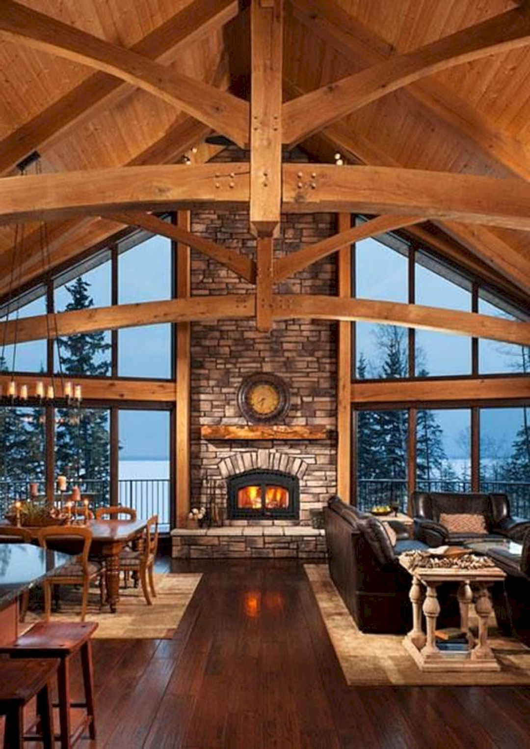 49 Superb Cozy and Rustic Cabin Style Living Rooms Ideas / FresHOUZ.com #livingroomideas