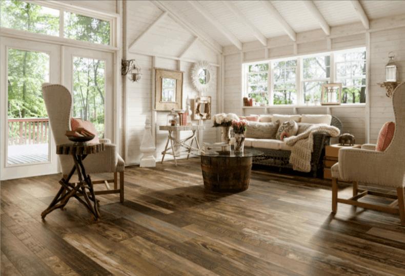15 Reclaimed Wood Flooring Ideas For Every Room Best Laminate Wood Laminate Flooring Coastal Living Rooms