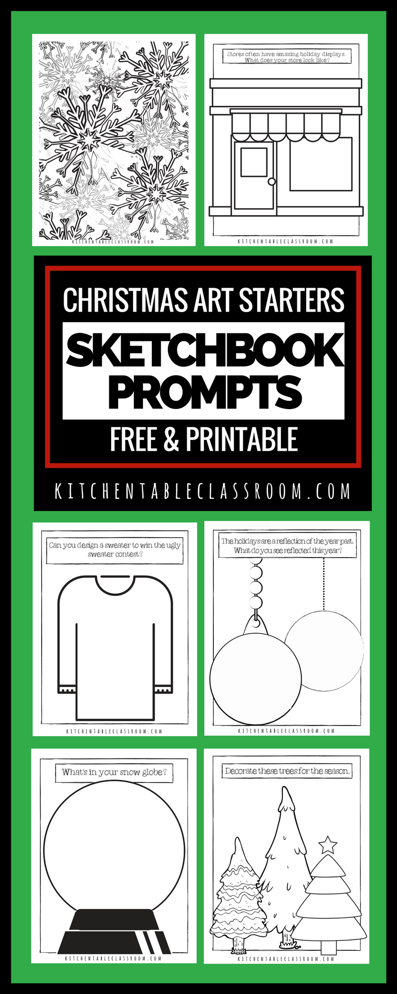 Christmas Coloring Pages Free Printable Sketchbook