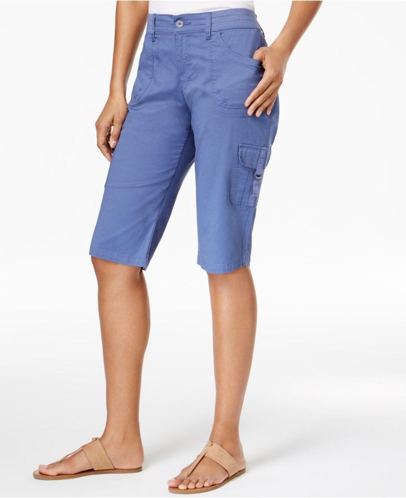 0462bcd8b0726 Lee Platinum Petite Size 14 Refresh Blue Comfrot Waist Cargo Shorts 992  Lee   Cargo  casual