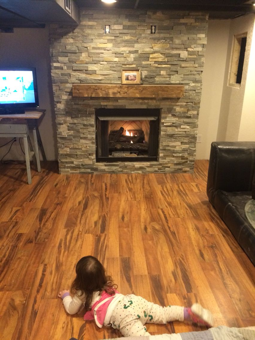 Our amazing basement fireplace stone from menards laminate our amazing basement fireplace stone from menards laminate flooring from menards ventless gas fireplace from home depot solutioingenieria Gallery