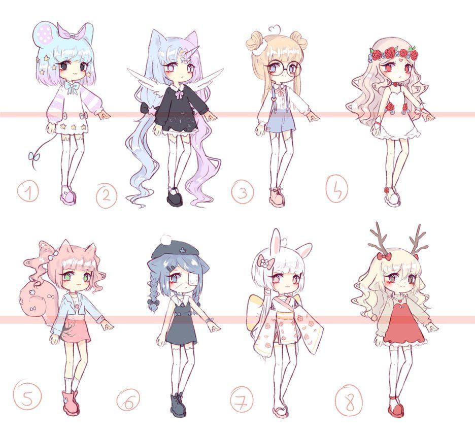 Anime Batch Charlotte: [OPEN 2/8] Random Adopt Batch 2 By Seraphy-chan