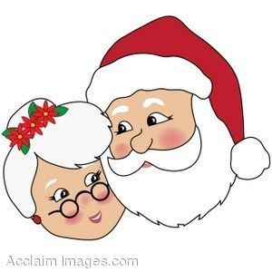 these faces of santa and mrs claus would be cute to make yourself rh pinterest com mrs. claus clipart images