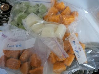 Make Ahead Baby Food / Freezer Cubes / Use As Needed