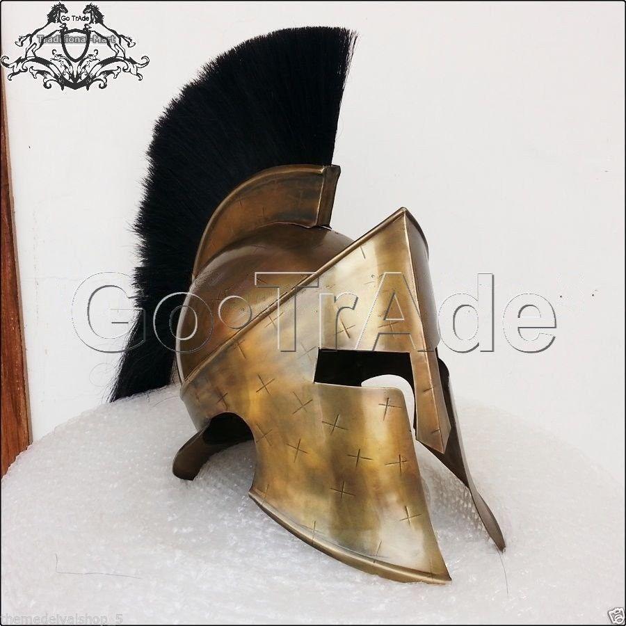 ROMAN 300 SPARTAN HELMET KING LEONIDAS MOVIE REPLICA HELMET MEDIEVAL GIFT