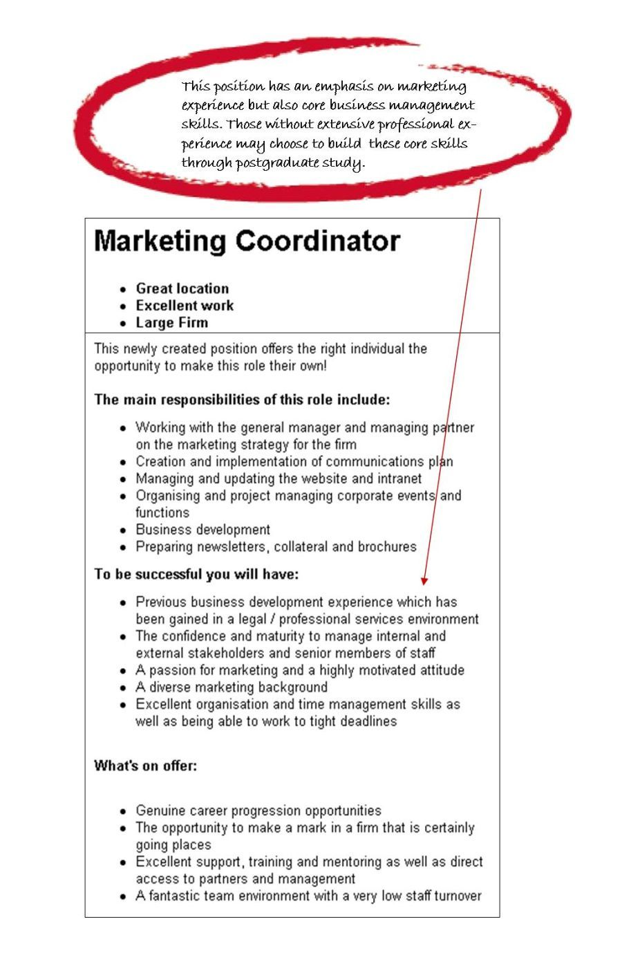 example of objective in resume for marketing