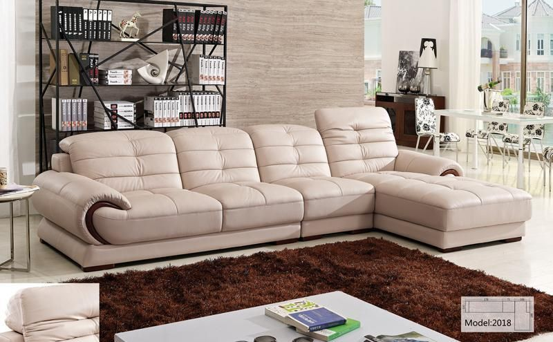 Free Shipping Clical Furniture Hot L Shaped Corner Sofa With Chaise Lounge Smart Living Set 2018
